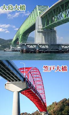 大島大橋・笠戸大橋