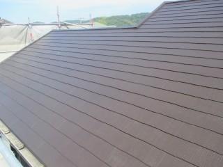 屋根も3回塗りで仕上げています。光沢が素晴らしいです。