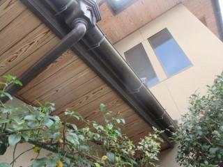 軒は問題なさそうです。鼻隠しと呼ばれる木部は塗装します。