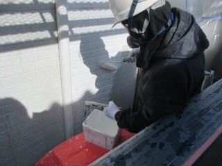養生等を終え、塗装作業です。