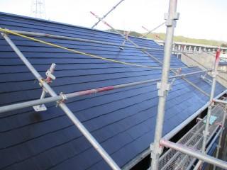 屋根は遮熱塗料でしっかり3回塗りで仕上げました。