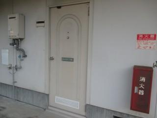 玄関扉も色あせしているように見えるので、今回塗装できれいにします!