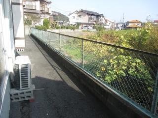 外のフェンスも塗装します。