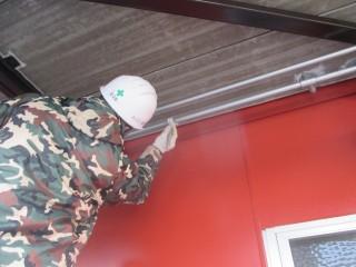 配管をきれいに塗っているところです。